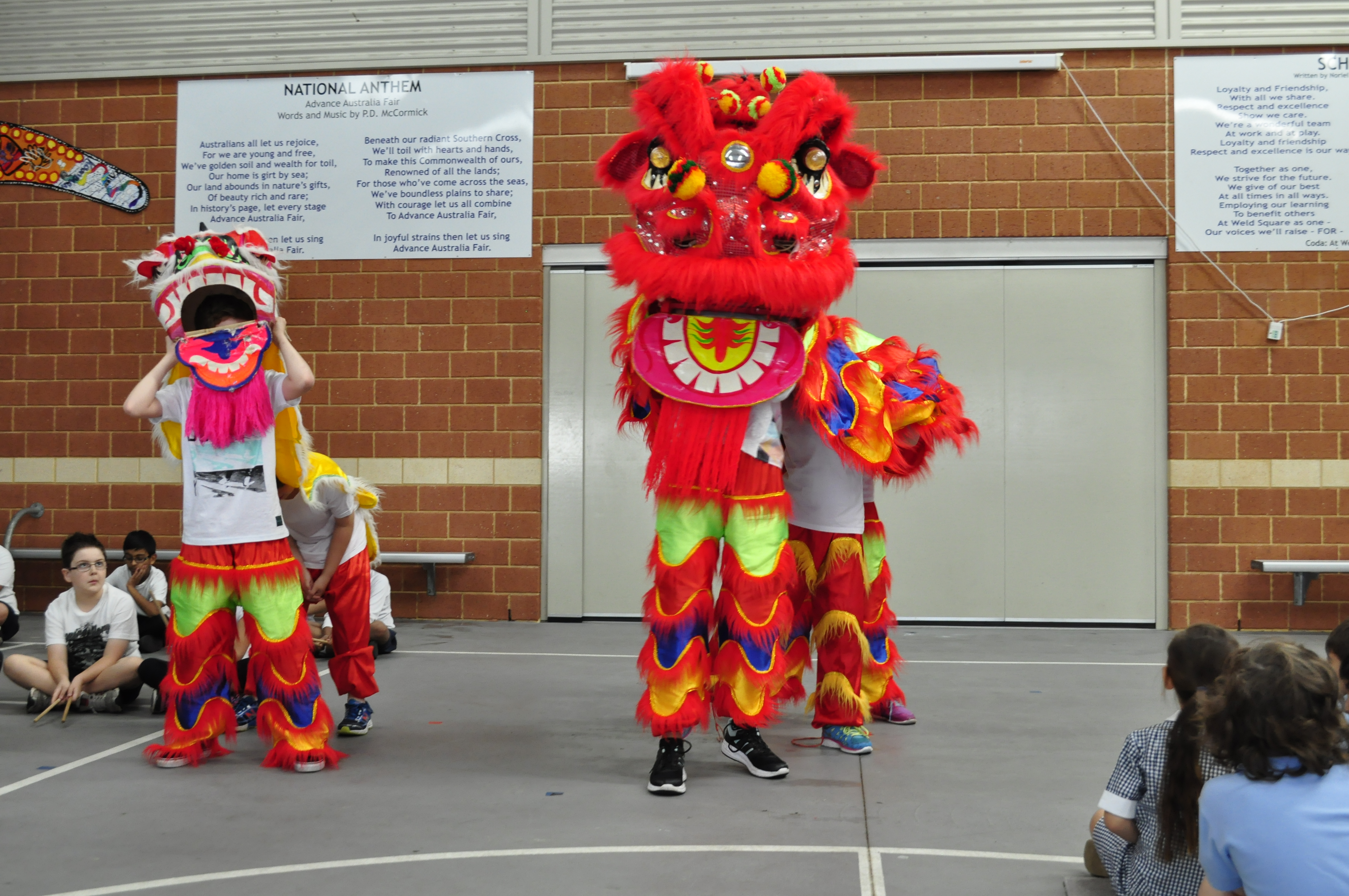 LOTE assembly lion dance 2015